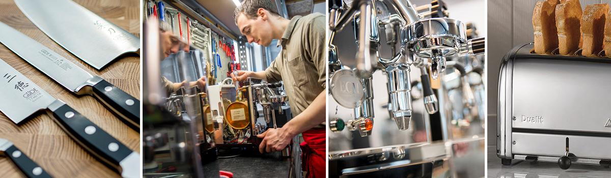 Cucinaria Werkstatt Service Siebtraeger Messer Schleifen Toaster Dualit Milan Rowlett